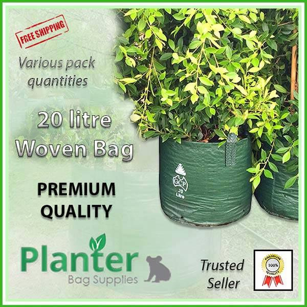 20 litre Woven Planter Bags - for more info go to PlanterBags.com.au