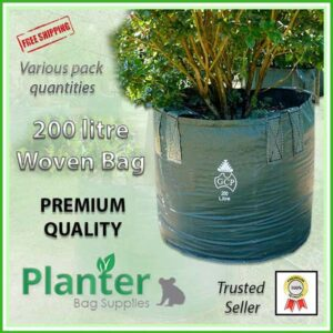 200 litre Woven Planter Bags - for more info go to PlanterBags.com.au