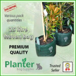 25 litre Woven Planter Bags - for more info go to PlanterBags.com.au