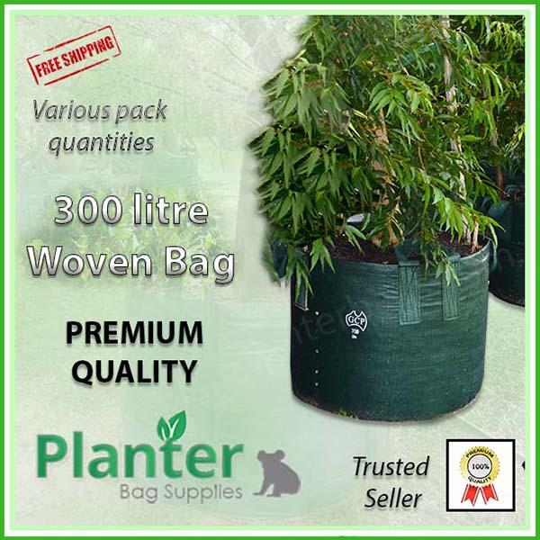 300 litre Woven Planter Bags - for more info go to PlanterBags.com.au