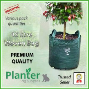 45 litre Woven Planter Bags - for more info go to PlanterBags.com.au