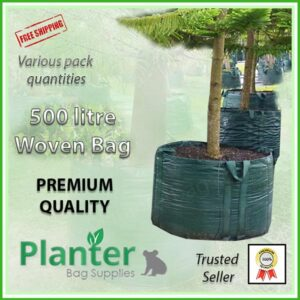 500 litre Woven Planter Bags - for more info go to PlanterBags.com.au