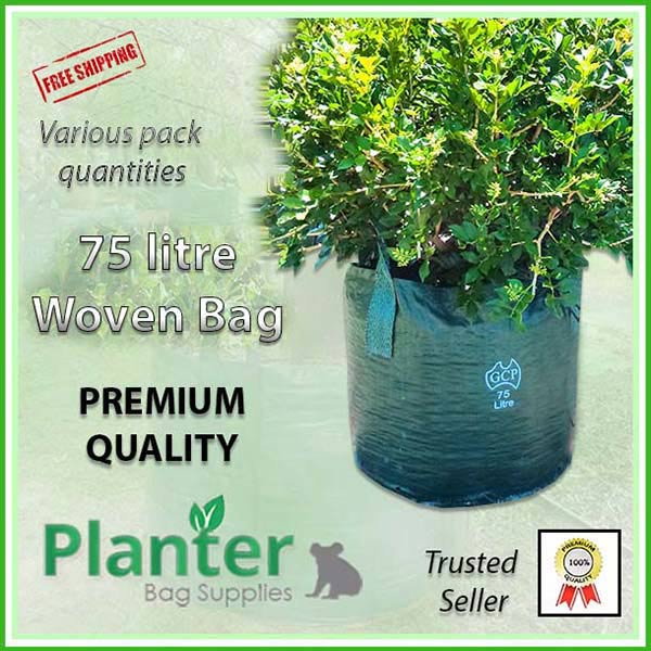 75 litre Woven Planter Bags - for more info go to PlanterBags.com.au