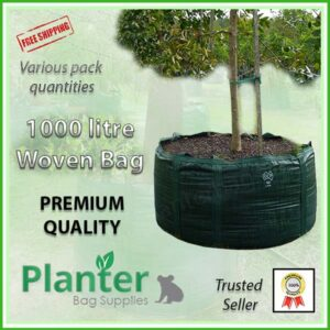 1000 litre Woven Planter Bags - for more info go to PlanterBags.com.au