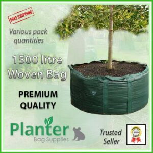 1500 litre Woven Planter Bags - for more info go to PlanterBags.com.au