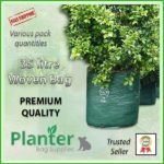 35 litre Woven Planter Bags - for more info go to PlanterBags.com.au