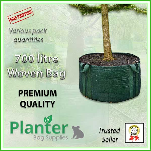700 litre Woven Planter Bags - for more info go to PlanterBags.com.au