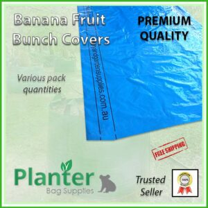 Banana Fruit Bunch Bag Cover Blue - for more info go to Planterbags.com.au