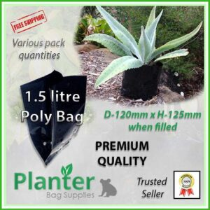 1.5 litre Planter Bags - Polyethylene Growbags - for more info go to PlanterBags.com.au