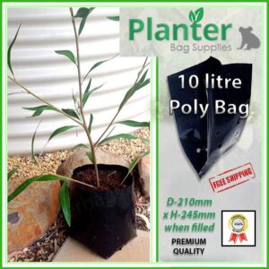 10 litre Standard Planter Bags - Polyethylene Growbags - for more info go to PlanterBags.com.au