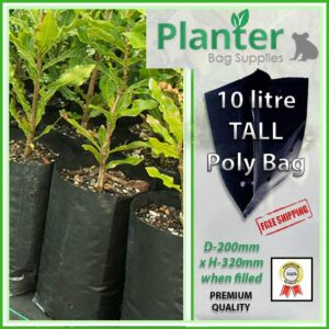 10 litre Tall Planter Bags - Polyethylene Growbags - for more info go to PlanterBags.com.au