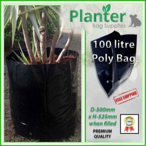 100 litre Planter Bags - Polyethylene Growbags - for more info go to PlanterBags.com.au
