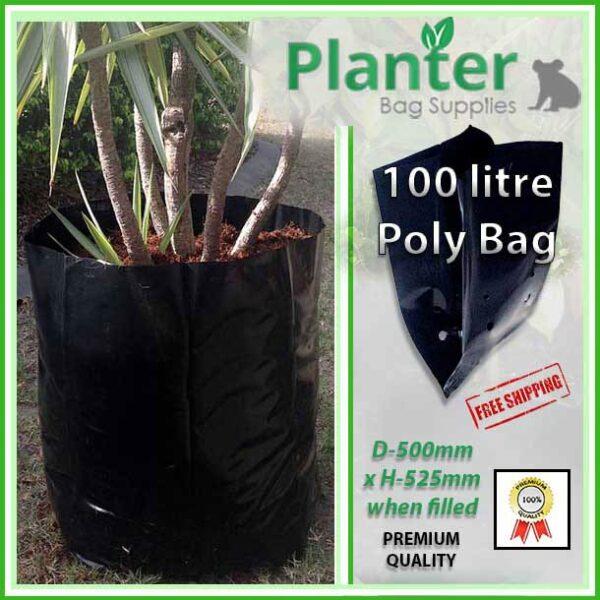 100 litre Planter Bags - Polyethylene Growbags - for more info go to PlanterBags.com.au