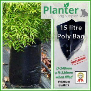 15 litre Planter Bags - Polyethylene Growbags - for more info go to PlanterBags.com.au