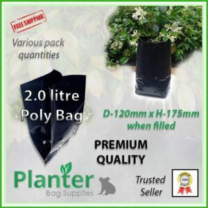 2 litre Planter Bags - Polyethylene Growbags - for more info go to PlanterBags.com.au