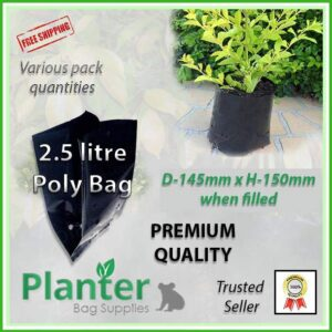 2.5 litre Planter Bags - Polyethylene Growbags - for more info go to PlanterBags.com.au