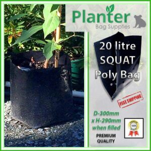 20 litre Squat Planter Bags - Polyethylene Growbags - for more info go to PlanterBags.com.au