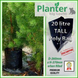20 litre Tall Planter Bags - Polyethylene Growbags - for more info go to PlanterBags.com.au