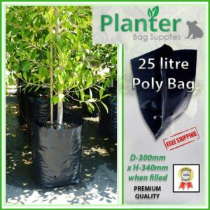 25 litre Planter Bags - Polyethylene Growbags - for more info go to PlanterBags.com.au