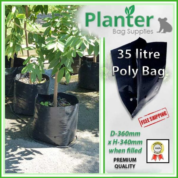 35 litre Planter Bags - Polyethylene Growbags - for more info go to PlanterBags.com.au