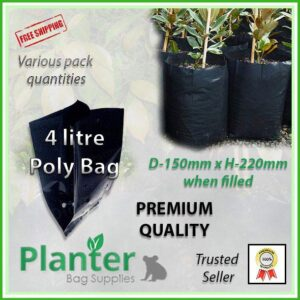 4 litre Planter Bags - Polyethylene Growbags - for more info go to PlanterBags.com.au