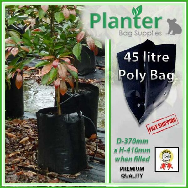 45 litre Planter Bags - Polyethylene Growbags - for more info go to PlanterBags.com.au