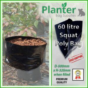 60 litre Squat Planter Bags - Polyethylene Growbags - for more info go to PlanterBags.com.au