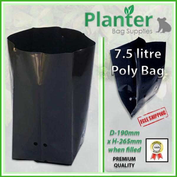 7.5 litre Planter Bags - Polyethylene Growbags - for more info go to PlanterBags.com.au