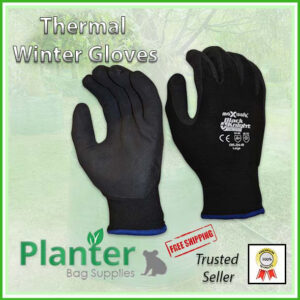 Gardening Thermal Winter Potting Gloves - for more info go to PlanterBags.com.au
