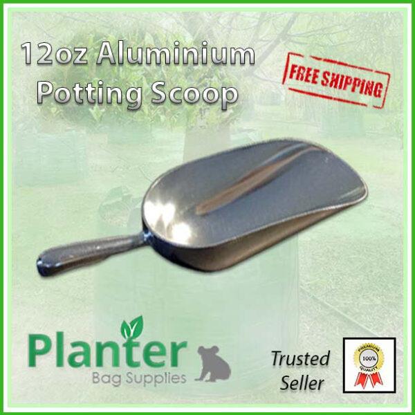 12oz Aluminium Potting Scoop - Planter Bag Supplies https://planterbags.com.au/
